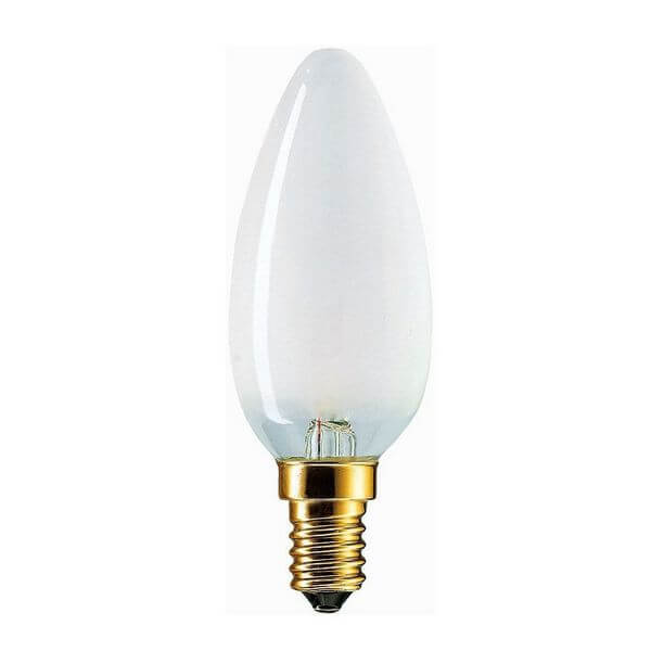 Лампа накаливания PHILIPS Softone B35 40W E14 Soft White (миньон) свеча белая
