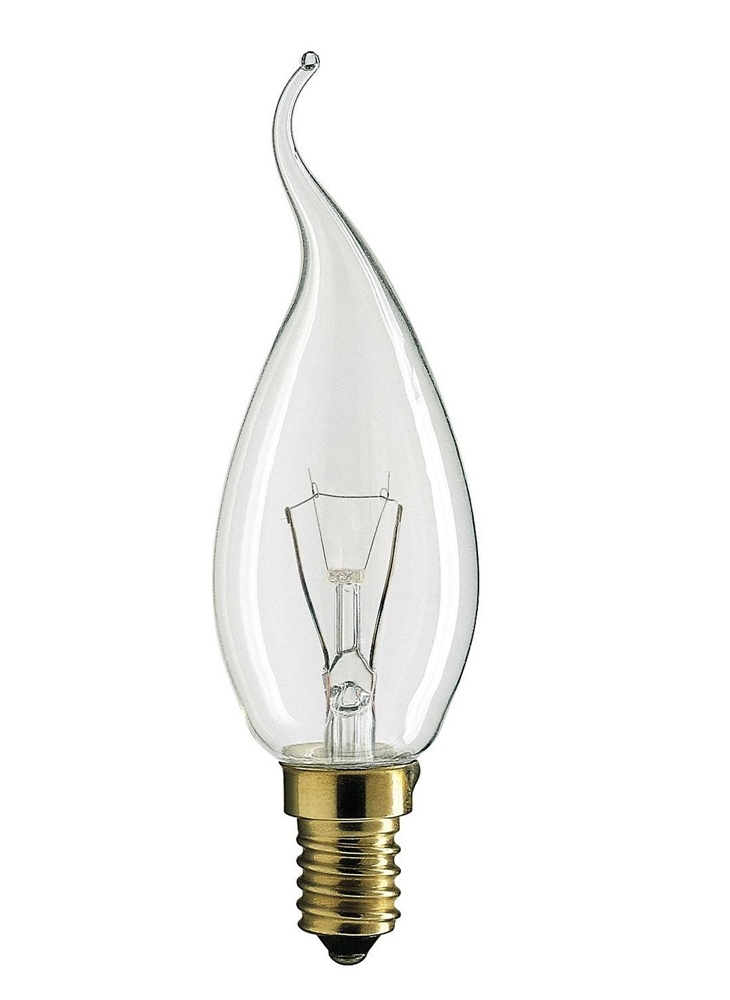 Лампа накаливания PHILIPS Deco BXS35 25W E14 CL (миньон)